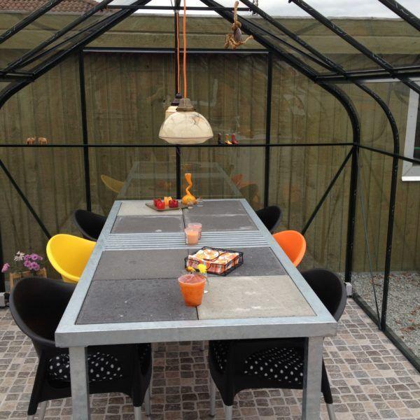 Havebord med beton fliser 200 x 90 x 73
