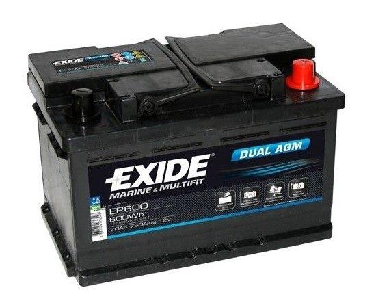 Exide Marine og Multifit Batterier