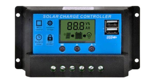 Solcelle laderegulator med 2 USB lade stik